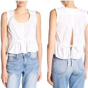 Frame Denim Sleeveless Peplum Blouse tank top M